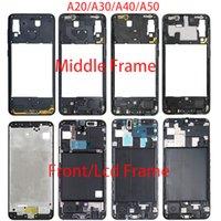 Для Samsung A20 A30 A40 A50 A50 A205F A305F A405F A505F A505F передний корпус ЖК-кадр Средний кадр задняя пластина корпуса задняя крышка