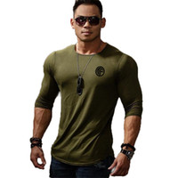 Mens T-shirt respirável Casual treino Tee Top New Men Cotton Sports manga comprida T-shirt Spring Fashion Marca O-Neck Slim Fit Camiseta