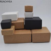 DIY 크래프트 선물 상자 화이트 / 브라운 / 블랙 종이 작은 비누 상자 크래프트 판지 미니 보석 판지 12Sizes 포장