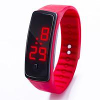 Детский Часы Новый светодиодный цифровой наручные часы браслет Дети Открытый спортивные часы для мальчиков Одежда для девочек Электронные Дата Часы Часы Infantil