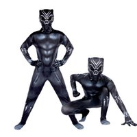 Black Panther cosplay Hero Suit Black Panther Costumes Kids Men Halloween Costume Captain America Civil War Movie Marvel
