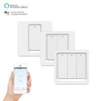 Tuya App Smart Wireless Remote Control Wall Switch luce pulsante EU Versione Lavora con Alexa Home page di Google