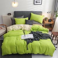 2021 Canlı Yeşil Yatak Stokta 3`lü Yatak Suit Nevresim Yastık Tasarımcı Ev Yatak Malzemeleri ayarlar