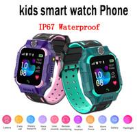 Q19 Smart Watch Kids IP67 Wasserdichte Armbanduhr LBS Tracker SIM-Karten-Taschenlampe-Zifferblatt-Spielkamera SOS-Kinder Smartwatch ios Android