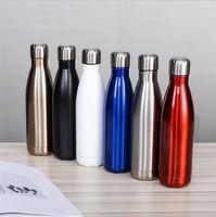 18 styles 17oz Cola bouteille en acier inoxydable double mur double mur de gobelet isolé à l'eau de sport portable portable