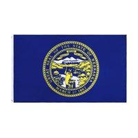 Nébraska Drapeau Freeshipping Usine directe en gros 3x5fts 90x150cm Cornhusker USA Bannière d'état USA Commande mixte pour la décoration suspendue