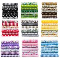 25*25cm mix colors Printed Fabrics 7pcs set Cotton patchwork children Fabrics for diy Needlework Handmade Accessories