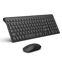 Tastiera Mouse Combos Mouse wireless, Aopei, Combinazione per Windows, Laptop, PC, TV Ultra-sottile ricaricabile e (Black-White)