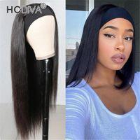 ブラジルのバージンの人間の髪のヘッドバンドはフルヘッドストレートボディウェーブ深い波の巻き毛の変態ストレートテクスチャを織る高品質