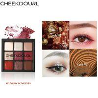 Göz Farı 9 Renkler Güzellik Sıralı Preslenmiş Paleti Glitter Göz Farı Su Geçirmez Makyaj Mat Pigment Maquillage