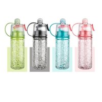 BPA Free Tritain Spor Su Şişesi Taşınabilir Mist Saplı Su Şişesi Sprey Soğutma Koşu Seyahat En ucuz 4 Renkler