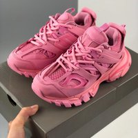2021 de calidad superior Track 3.0 Gomma Maille Tess S París Triple S Rosa para mujer de la zapatilla de deporte del deporte de los zapatos corrientes Formadores