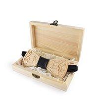Linbaiway New Design Holz Fliege Herren Holz Bowtie Markengeschäft Krawatten für Hochzeit Bräutigam Handmade Hemd Zubehör