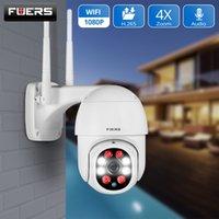 FUERS 1080P Açık Kamera PTZ IP Kamera Güvenlik CCTV 4X Yakınlaştırma Gözetleme kamera WIFI P2P Bulut Gece Görüş Hareket Algılama