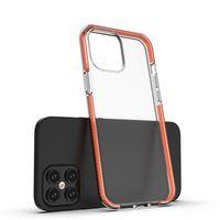 Temizle TPU + TPE Hibrid Tampon Telefon Kılıfları Samsung Galaxy S21 A12 A42 S20 FE 5G iPhone 12 Pro Case Redmi Note 9s Kapakları