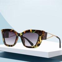 Солнцезащитные очки Ретро Cateye Женщины Солнцезащитные Очки Дизайнер Бренд Черные Разноцветные Очки Для Женщины Cat Eye 2021