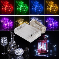 Led String Lights Mini Battery Powered Copper Wire Starry Fa...
