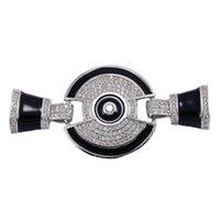 Encantos suprimentos para jóias preta esmalte pingentes pulseiras colares vintage zircon micro pavimentação flutuante por atacado