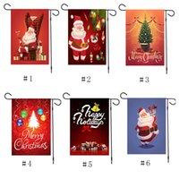 Enfeites de Natal Banners Bandeira Doudle Side Impresso Banner Papai Noel Boneco de neve Pendurado Bandeira Ao Ar Livre New Feliz Natal Decoração para casa