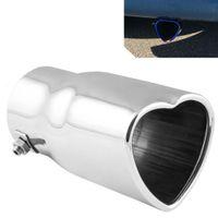 Universal de 60 mm de entrada Dia de la quemadura en forma de corazón Punta del escape tubo de escape para el coche