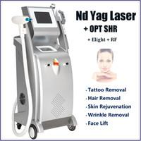 أحدث !! 5 في 1 nd yag الليزر معدات إزالة الوشم lazer الشعر الحاجب الصباغ علاج elight opt shr الجلد آلة