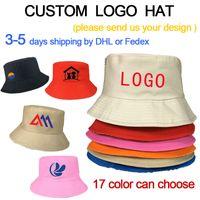 DIY-Logo Wannenhut Sonnenschutz im Freien bucke Kappe für Männer und Frauen Radsport Baumwolle Hut 3-5days DHL schnelle Lieferung Gedruckt