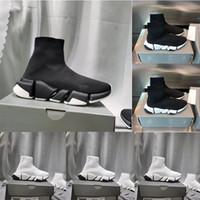 Hot vente 2020 nouvelles chaussures plateforme entraîneur vitesse occasionnels trois paires de chaussettes hommes chaussures plates chaussures des femmes de code de mode 36-45