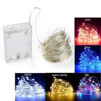 LED String Lights 2m 5m 10m Garland Home Casa Natale Decorazione della festa di nozze Powered By 5v Battery Fairy Light