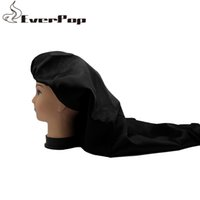 2020 EverPop Custom Shop Logo de cetim de seda Bonnet Double Layer extensões do cabelo Virgin / Cabelo Perucas sono cetim de seda Bonnet