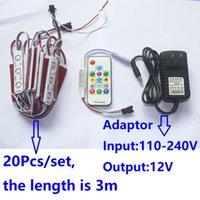 Módulo LED de entrada 110-240V IC2811 para iluminação com 7 cores + fonte de alimentação + controlador