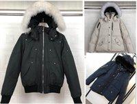 새로운 겨울 자켓 다운 파카 재킷 겉옷 큰 모피 후드 fourrure manteau 캐나다 아래로 자켓 코트 Doudoune 다운