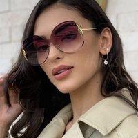 선글라스 우아한 여성 여성 대형 태양 안경 레이디 얇은 얼굴 UV400에 대한 둥근 패션 럭셔리 그늘