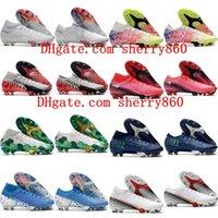 2021 Mens Boys Scarpe da calcio Donne per bambini Tacchetti Mercurial Suprefly 13 Elite FG Boots Boots Scarpe da calcio Dimensione 35-45