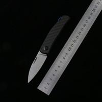 Zéro tolérance 0235 Couteau pliant D2 Blade de carbone Poignée en fibre de carbone en plein air Couteaux de poche de champ de survie EDC Couteau tactique