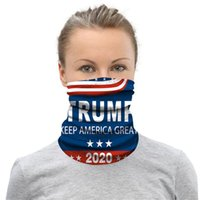 200pcs Trump 2020 Celebrity Mask Shield Masks Biden Seamless Magic Scarf Keep America Great Headbands Cycling Headwear Neck For Party Masks