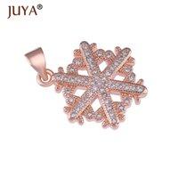 Charms rame zircone gioielli per la produzione di rifornimenti di fiocco di neve fiocco di neve rifornito pendente rifornito di natale artigianato gioielli accessori accessori Bedels