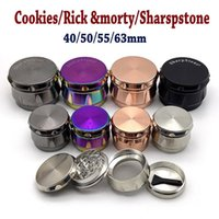 Herb Grinder 4 Layers 43 63mm Metal Zinc Alloy Tobacco Herbal Grinders With Without Sharpstone LOGO