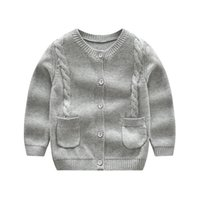 Baby Girls Cardigan Sweaters Knitted O neck Casual Toddler Kids Sweater School Single Breasted Children Clothes 1 2 3 4 Yrs