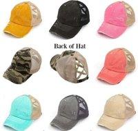 At Kuyruğu Beyzbol Caps Yıkanmış Pamuk Dağınık Buns Şapkalar Yaz Trucker Pony Cap Unisex Visor Cap Şapka Açık Snapbacks WCW931 Caps