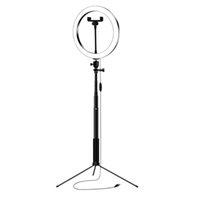 Мигает 26 см Pogogrape LED Selfie Освещение Света Степень Степень Степень Штекер Штекер USB Dimmable Для Макияж Видео Live Studio