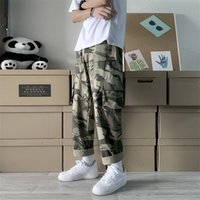 2020 Men' s Loose Cargo Casual Pants Clothing Camouflage...