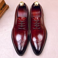 영국 디자이너 정품 가죽 남성의 발 뒤꿈치 웨딩 옥스포드 뾰족한 발가락 끈 남자 정장 드레스 윙팁 Brogues 신발 FWL158