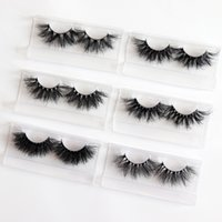 Super fluffy wholesale false 5d mink eyelashes own brand las...