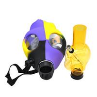 eau verre masque à gaz bongs mini-dab appareils bongs silicone bong tuyau d'eau pour gros détail