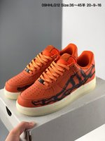 2020 New Low 1 07 Skeleton QS Halloween arancione riflettente delle donne degli uomini Running Shoes 1s Dunk Uno Sport Skateboard scarpe da tennis des Chaussures