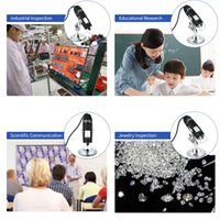 Freies Verschiffen 1600x / 1000x Vergrößerung USB-Digital-Mikroskop-Mikroskopio-Digital-Lupe 8-LED-Licht-Endoskop-Kamera