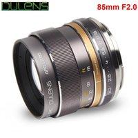 DULENS APO 85 millimetri F2.0 Lens telaio Apocromatico completa per Canon Full frame EF Mount fotocamera 5D Mark IV 6D costruzione interamente metallica 350g