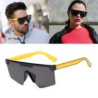 2020 fashion cool square shield style sunglasses men and women Ins popular brand design sunglasses 95216