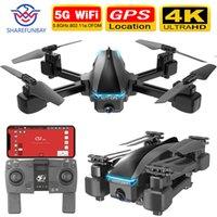 SHAREFUNBAY S177 беспилотного 4K GPS 5G WIFI HD широкий угол двойной камеры FVP беспилотный полет 20min гс расстояние 600m Quadcopter против S167 беспилотный T200910