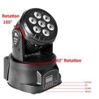DMX512 LED Mini DJ Projektör Sahne Lambası AC110V-240 V 80 W RGBW Otomatik / Ses Kontrol Parti Karışık Renk Hareketli Kafa Işık